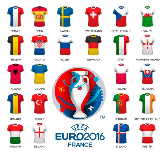 Euro2016 cup football background vector 05