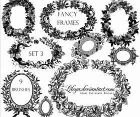 Fancy frames photoshop brushes set