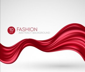 Fashion abstract silk background vector 01