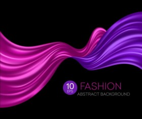 Fashion abstract silk background vector 07