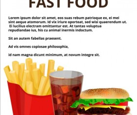 Fashion fast food poster vector template 03