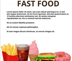 Fashion fast food poster vector template 05