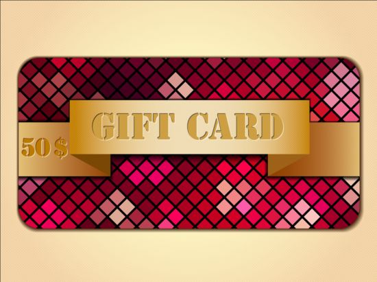 Fashion gift card template vectors 08