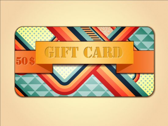 Fashion gift card template vectors 12