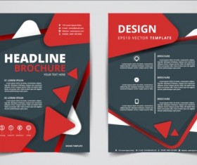 Flyer and brochure red cover template 01