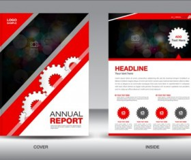 Flyer and brochure red cover template 02