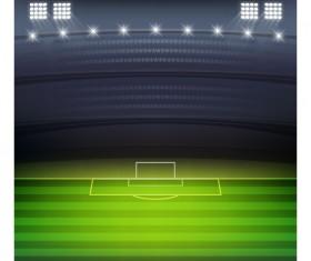 Football field and spotlights background vector 01