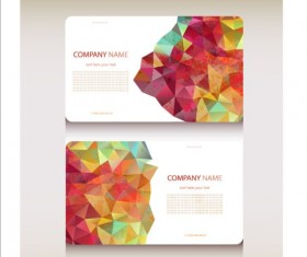 Geometric shapes business card vector set 02