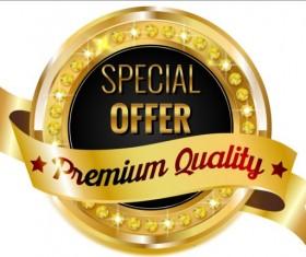 Golden with diamond premium quality labels 02