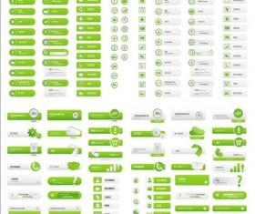 Green User web buttons ai set