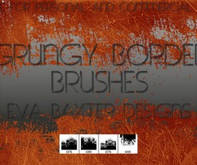 Grunge border PS brushes