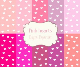 Heart paper and pink background vector