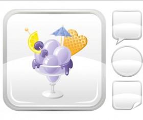 Ice cream icons creative vector 02