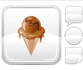 Ice cream icons creative vector 09