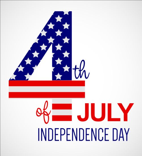 Independence Day with flag background vector 02