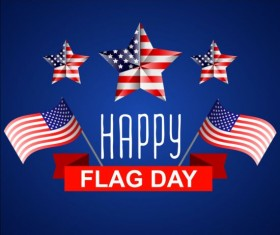 Independence Day with flag background vector 05