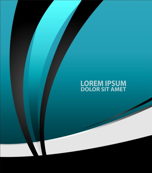 Light blue with black styles flyer and brochure cover vector 14
