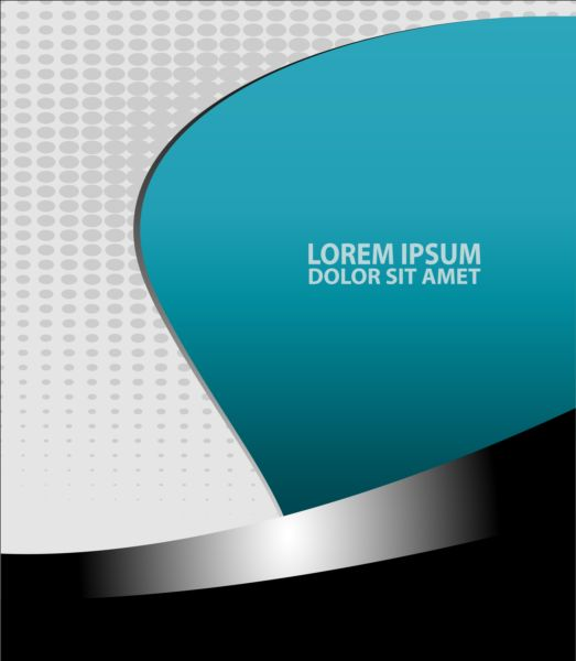 Light blue with black styles flyer and brochure cover vector 15
