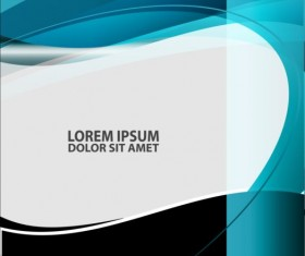 Light blue with black styles flyer and brochure cover vector 16