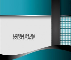 Light blue with black styles flyer and brochure cover vector 17