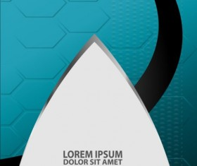 Light blue with black styles flyer and brochure cover vector 20