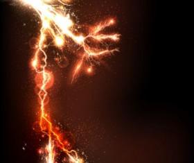 Lightning flash stick background vector 02