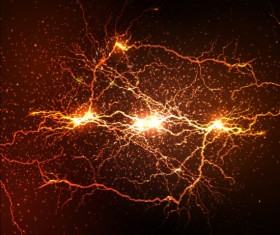 Lightning flash stick background vector 07