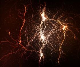 Lightning flash stick background vector 09