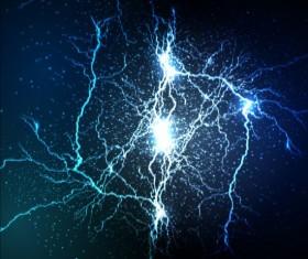 Lightning flash stick background vector 10