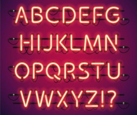 Lights with alphabet creative vector