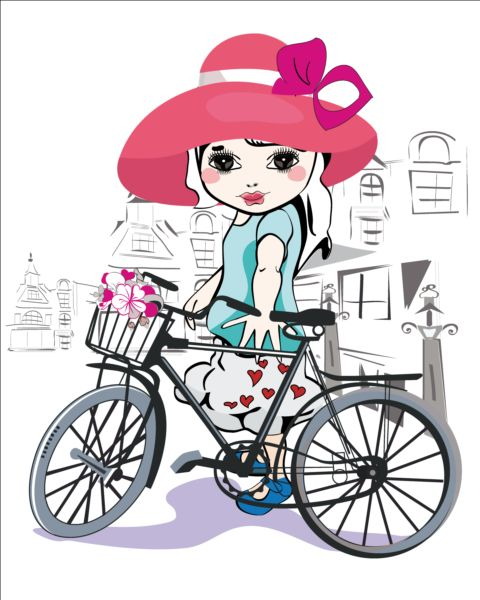 Little girl bycicle