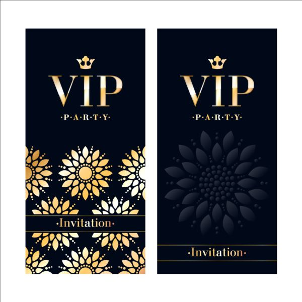 luxury vip invitation cards template vector 01 vector card free download. Black Bedroom Furniture Sets. Home Design Ideas