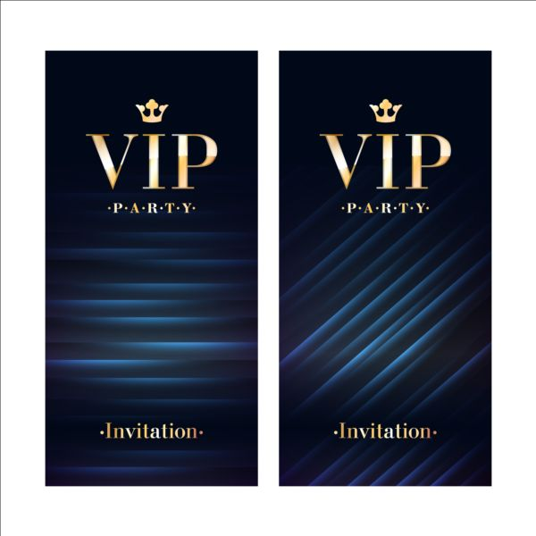 luxury vip invitation cards template vector 03 vector card free download. Black Bedroom Furniture Sets. Home Design Ideas