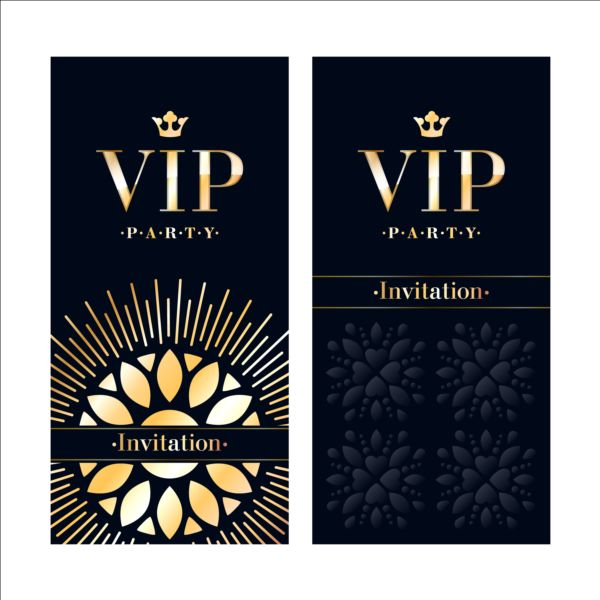 luxury vip invitation cards template vector 04 vector card free download. Black Bedroom Furniture Sets. Home Design Ideas