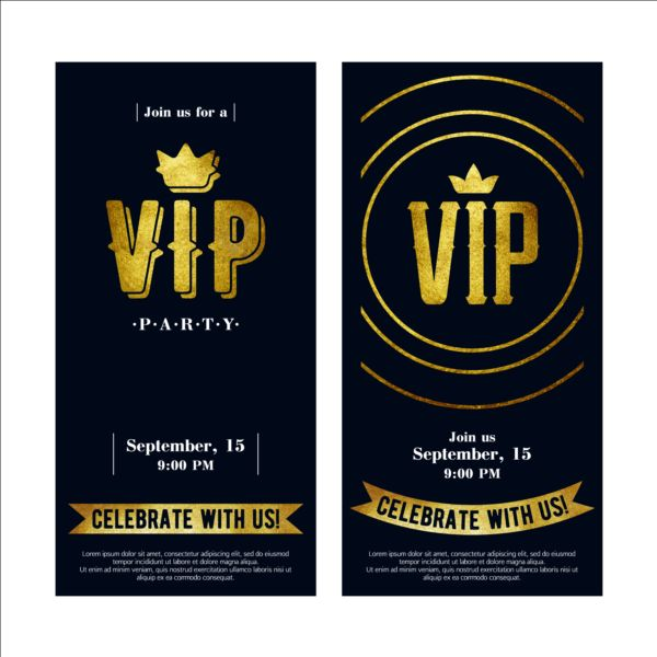 luxury vip invitation cards template vector 05 vector card free download. Black Bedroom Furniture Sets. Home Design Ideas