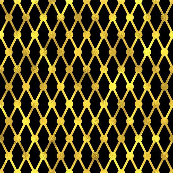 Luxury gold pattern seamless vector 07