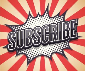 Message Subscribe comic speech bubble vector