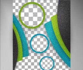 Modern flyers brochure cover vector illustration 02