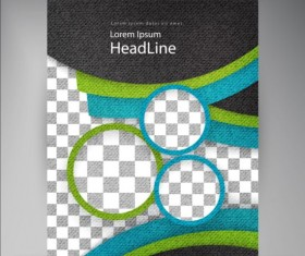 Modern flyers brochure cover vector illustration 03