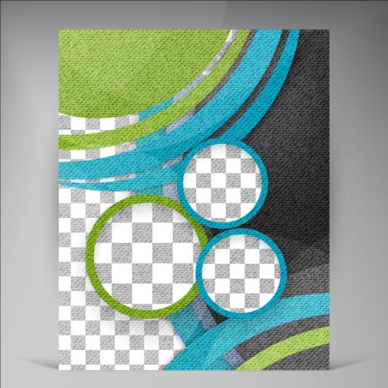 Modern flyers brochure cover vector illustration 05