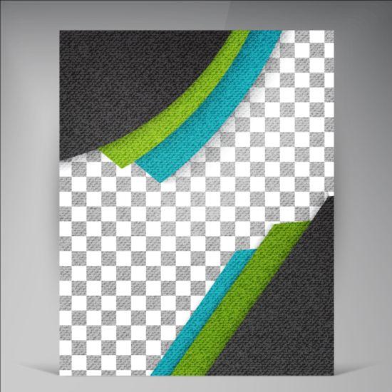 Modern flyers brochure cover vector illustration 07