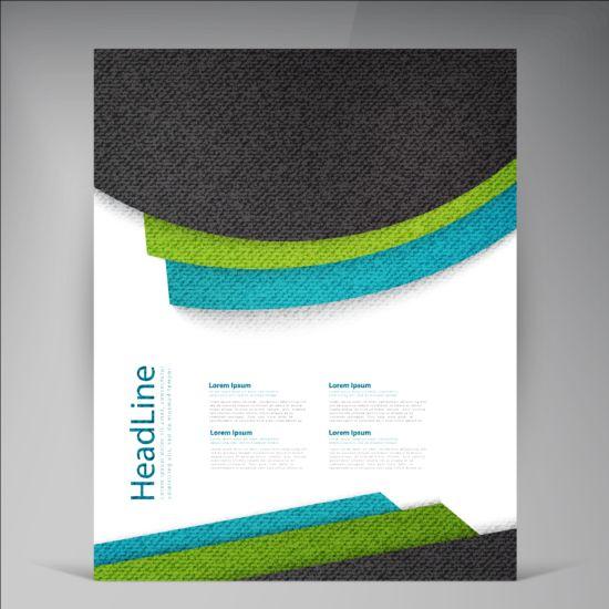 Modern flyers brochure cover vector illustration 08