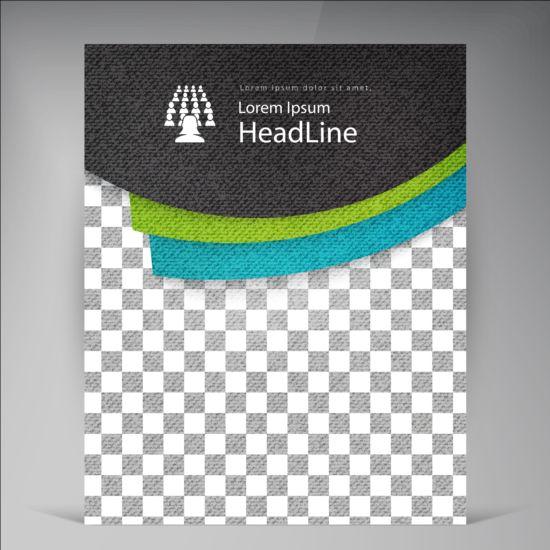 Modern flyers brochure cover vector illustration 09