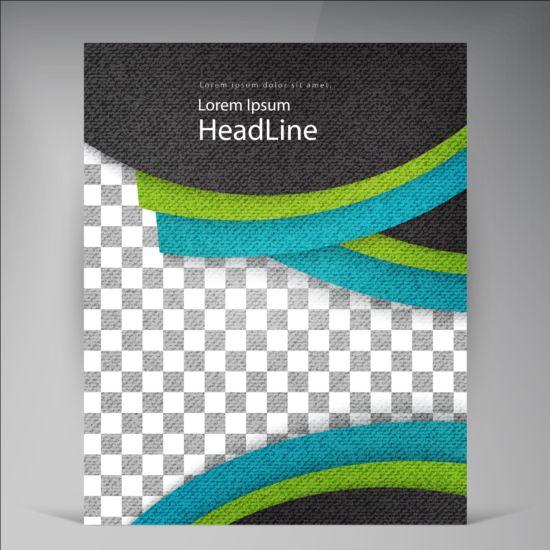 Modern flyers brochure cover vector illustration 10
