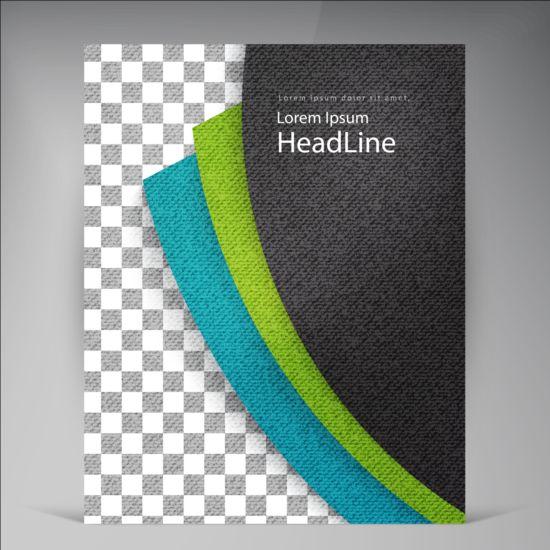 Modern flyers brochure cover vector illustration 12