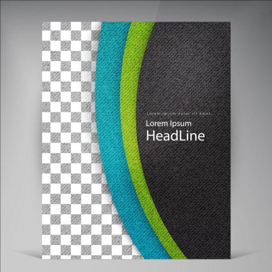 Modern flyers brochure cover vector illustration 13