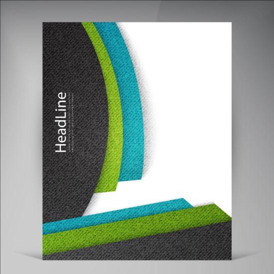 Modern flyers brochure cover vector illustration 16