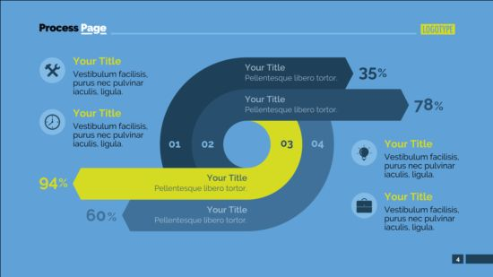 Process page business vector template 03