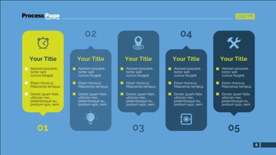 Process page business vector template 04
