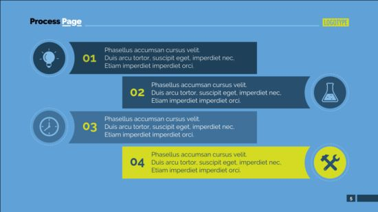 Process page business vector template 05